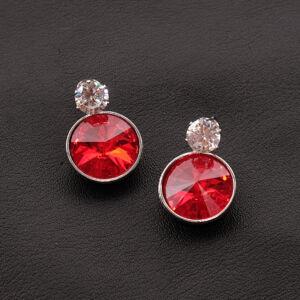vörös női üvegkristály fülbevaló