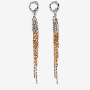 Arany-Ezüst Színű Lógós Női Fülbevaló