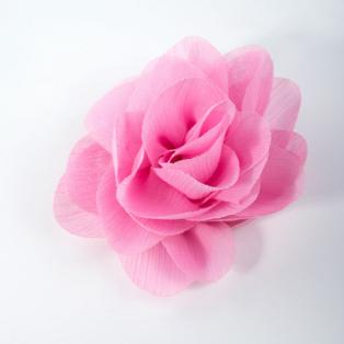Rózsaszín Virág Alakú Hajcsat És Kitűző