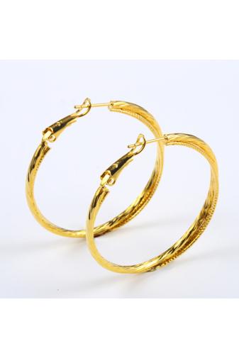 Kép 2/6 - Xuping Arany színű Nyomottmintás Női Fülbevaló
