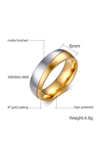 Kép 4/4 - A & ONE Arany-Ezüst Színű Rozsdamentes Acél Karikagyűrű - Női
