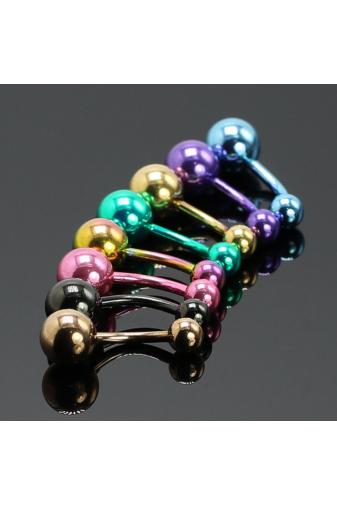 Kép 1/3 - A & ONE Színes orvosi acél piercing szett - 8db-os
