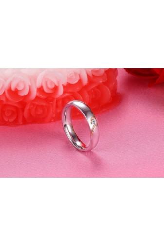 Kép 5/5 - A & ONE Ezüst Színű Kővel Díszített Páros Gyűrű Női-6