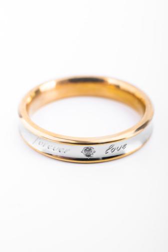 Kép 2/2 - A & ONE Arany-Ezüst Színű  Női Gyűrű Forever Love Felirattal-5
