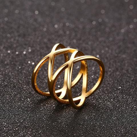 A & ONE Nagyméretű Aranyszínű Női Gyűrű