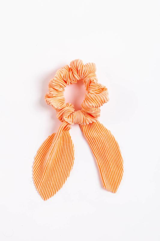 A & ONE Narancssárga Bordázott Hajgumi Szalaggal Díszítve