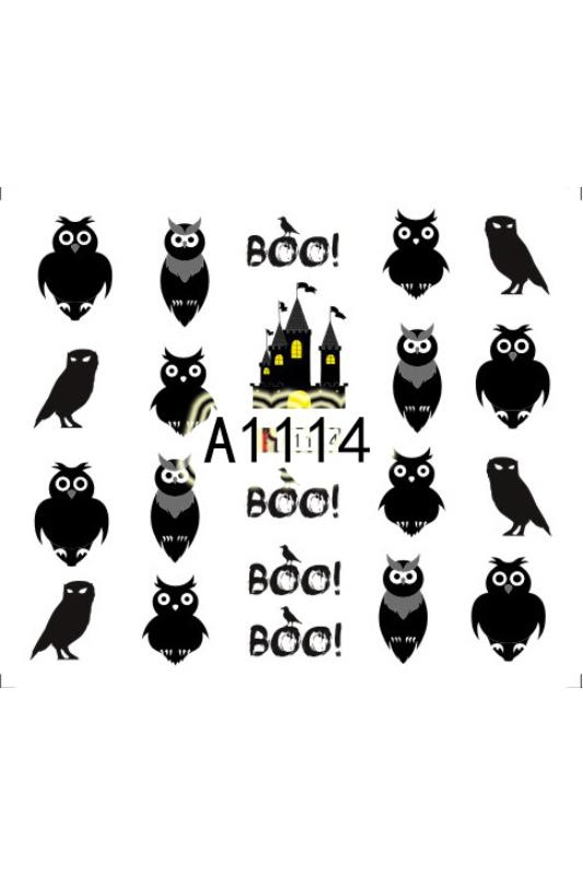 Moonbasa Akril Hatású Halloweeni Körömmatrica -- Bagoly