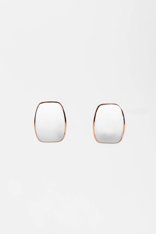 Aranyozott Fehér Színű Titánium Fülbevaló