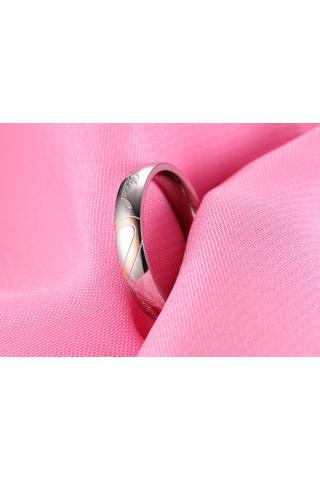 A & ONE Ezüst Színű Rozsdamentes Acélból Készült Gyűrű Real Love Felirattal