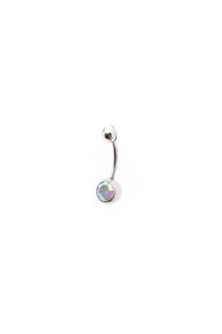 A & ONE Színes köves két gömbös köldök piercing