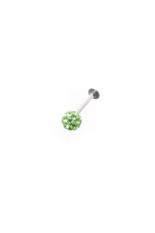 A & ONE Zöld Strasszokkal Díszített Arc Piercing  (5mm)
