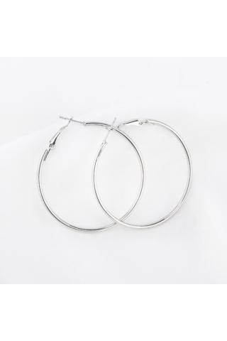 A & ONE Ezüst Színű Karika Fülbevaló 4.8 cm