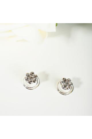 A & ONE Ezüst színű virágos spirálos hajtű 2db