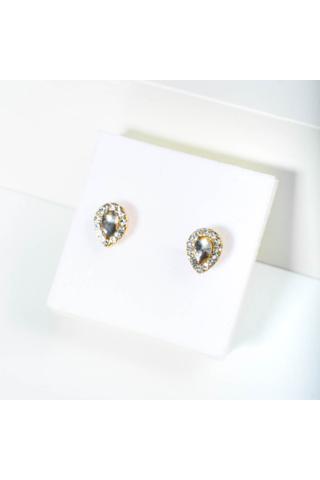 A & ONE Csepp alakú Köves Fülbevaló (arany)