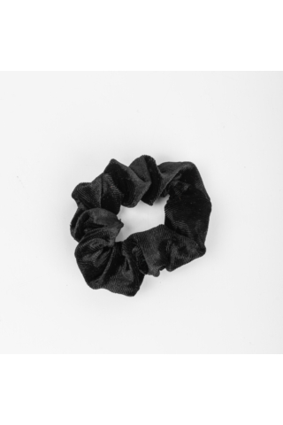 A & ONE Fekete Női Csillogó Bársonyos Hajgumi