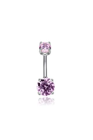 A & ONE Lila cirkónia kővel díszített piercing