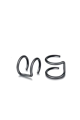 A & ONE Fekete minimalista füldísz