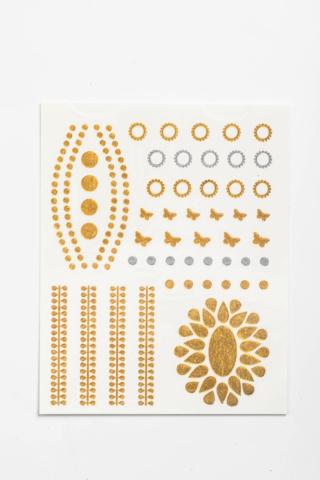 Ezüst És Arany Csillogó Kézfej Tetoválás Pillangókkal