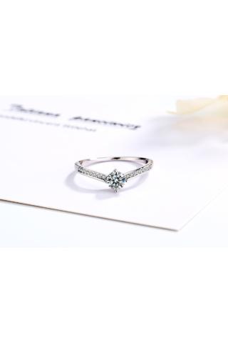 A & ONE Ezüst Karika Gyűrű Cirkónia Kövekkel