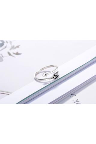 A & ONE Nyilat Formázó Ujj Köré Tekeredő Ezüst Gyűrű
