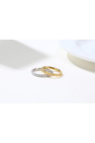 A & ONE Ezüst Színű Matt Titánium Karika Gyűrű