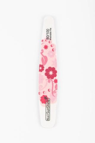 Nail Sunshine Kerekített Körömreszelő 80/100 Rózsaszín