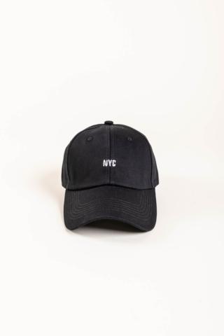 A & ONE Fekete, NYC Feliratos Állítható Baseball Sapka