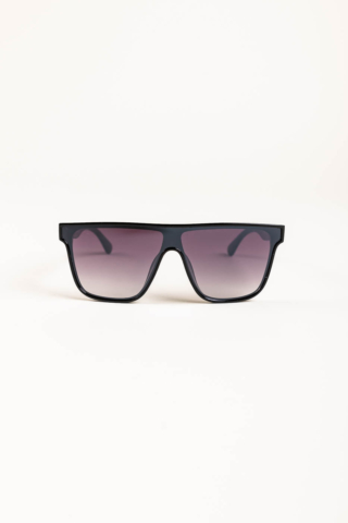 A & ONE Fekete Nagy Méretű, Szárán Piros-Zöld Díszítésű Napszemüveg