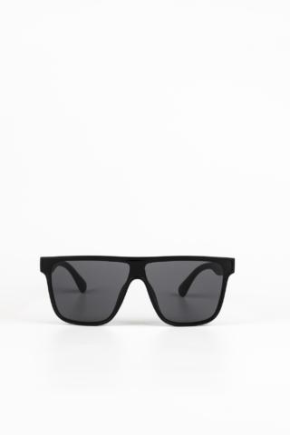A & ONE Matt Fekete Nagy Méretű, Szárán Piros-Zöld Díszítésű Napszemüveg