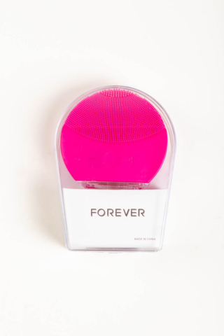A & ONE Sötét Rózsaszín USB-vel Tölthető Szilikonos Arcmasszírozó És Arctisztító Készülék