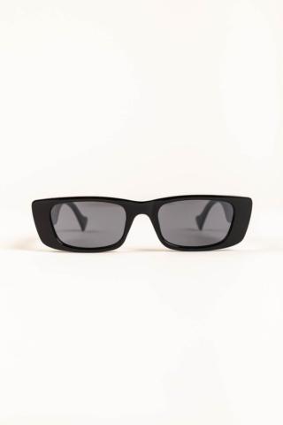 A & ONE Keskeny Szögletes Fekete Keretes Retro Stílusú Divat Napszemüveg