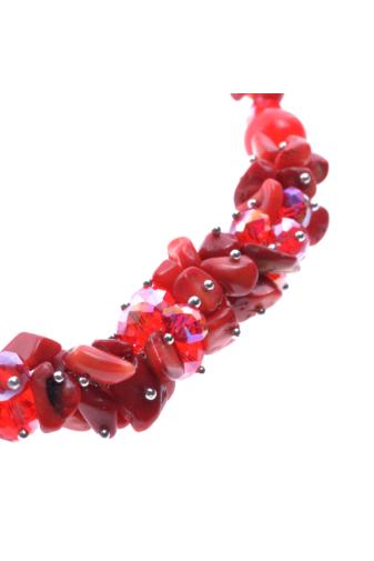 Kép 2/2 - A & ONE Piros köves női nyaklánc