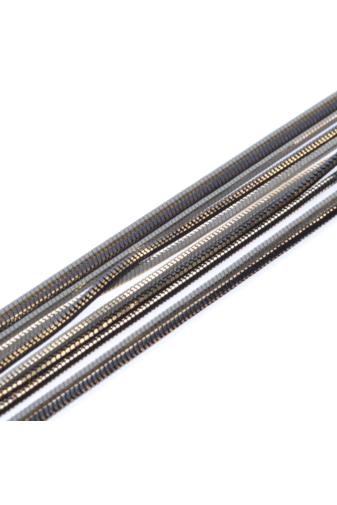 Kép 2/3 - A & ONE Fekete több soros, női fémkarkötő