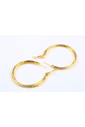 Kép 4/6 - Xuping Arany színű Nyomottmintás Női Fülbevaló