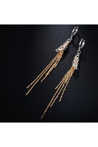 Kép 3/6 - Xuping Arany-Ezüst Színű Lógós Női Fülbevaló
