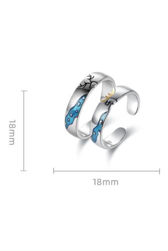 Kép 5/8 - A & ONE Ezüst, szarvast ábrázoló gyűrű - 18 mm