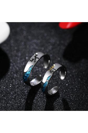 Kép 6/8 - A & ONE Ezüst, szarvast ábrázoló gyűrű - 18 mm