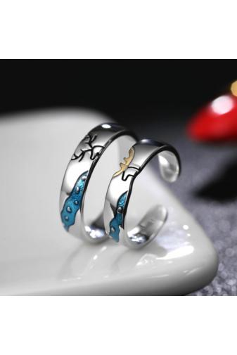Kép 6/7 - A & ONE Ezüst, szarvast ábrázoló gyűrű - 15 mm