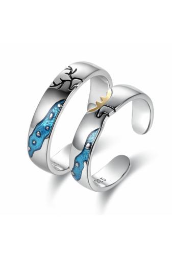 Kép 7/7 - A & ONE Ezüst, szarvast ábrázoló gyűrű - 15 mm