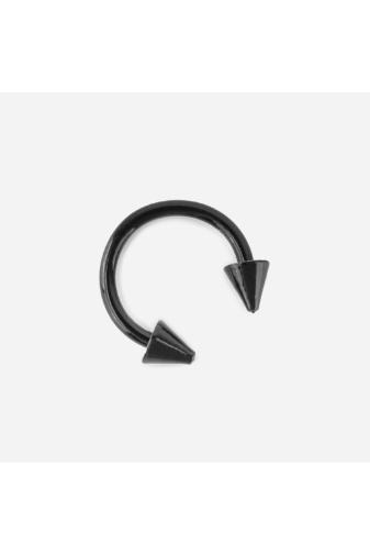 Kép 3/3 - A & ONE Orvosi Acélból Készült fekete színű 4 darabos Piercing Szett