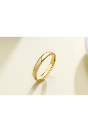 Kép 3/5 - A & ONE Arannyal Bevont Rozsdamentes Acél Karika Gyűrű