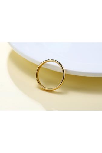 Kép 4/5 - A & ONE Arannyal Bevont Rozsdamentes Acél Karika Gyűrű