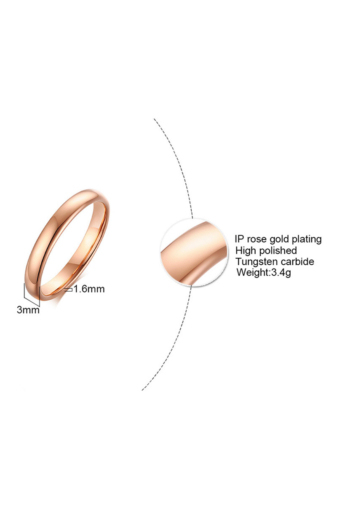 Kép 2/5 - A & ONE Arannyal Bevont Rozsdamentes Acél Karika Gyűrű