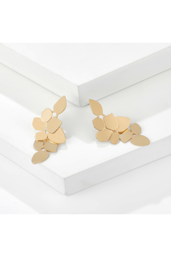 Kép 3/8 - A & ONE Szőlőfürt alakú Arany Színű Strasszköves Lógós Fülbevaló