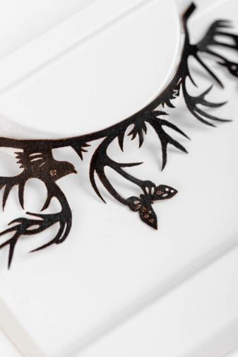 Kép 2/3 - Fekete Pillangókkal Díszített Soros Műszempilla