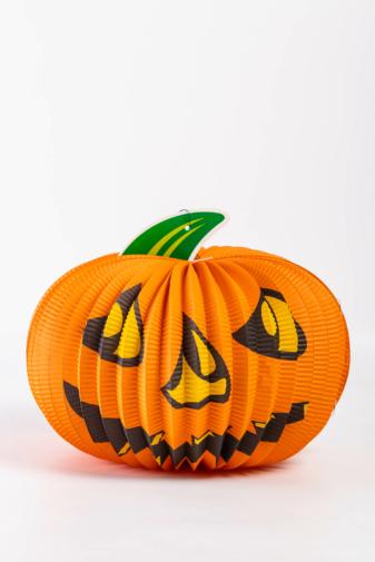 Kép 1/2 - Függő Papír Dísz -- Halloween-i tök