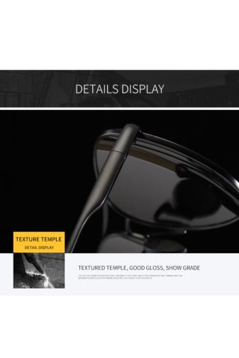 Kép 3/7 - A & ONE Polarizált Fekete Lencsés Fényes Arany Színű  Kerettel Gumirozott Szárú Napszemüveg