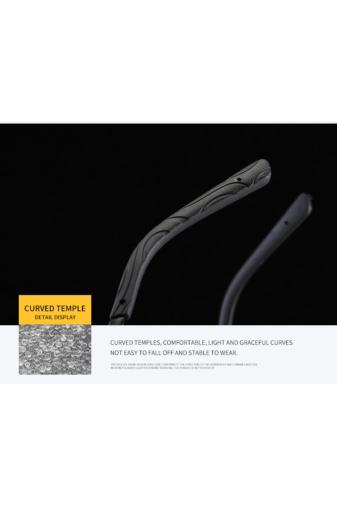 Kép 5/8 - A & ONE Polarizált Fekete Lencsés Fényes Ezüst Színű Kerettel Gumirozott Szárú Napszemüveg