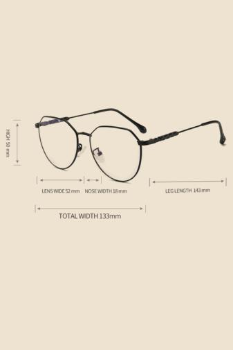 Kép 4/5 - A&ONE Ezüst Különleges Fém Keretes Szemüveg Átlátszó Lencsékkel
