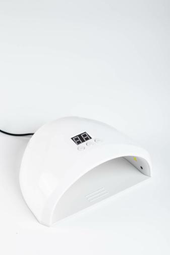 Kép 1/3 - Fehér Köröm- És Gélszárító UV/LED Lámpa 12 Darab Led Izzóval, 36 W